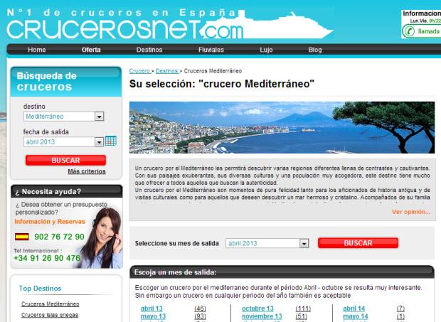 cruceros baratos por el mediterraneo