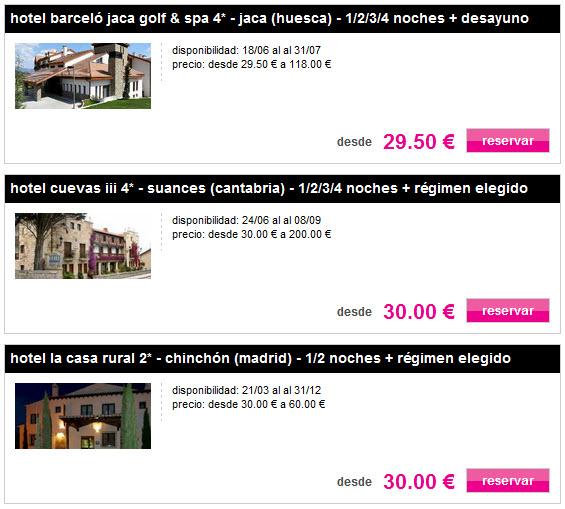 escapadas por menos de 50 euros