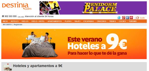 hoteles a 9 euros