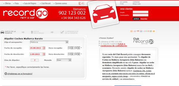 Alquiler de coches en Mallorca en Record rent a car