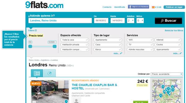 Apartamentos baratos para Octubre 2012