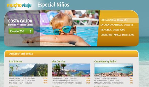 Viajes con niños gratis en Septiembre 2012