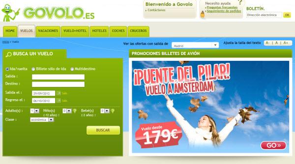 Govolo y sus ofertas de vuelos para el puente del Pilar