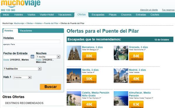 Chollos de viajes para el puente del Pilar