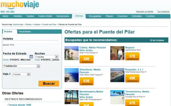 Viajes lowcost para el puente del Pilar en Muchoviaje