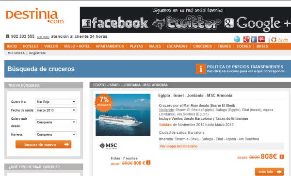 cruceros baratos para 2013