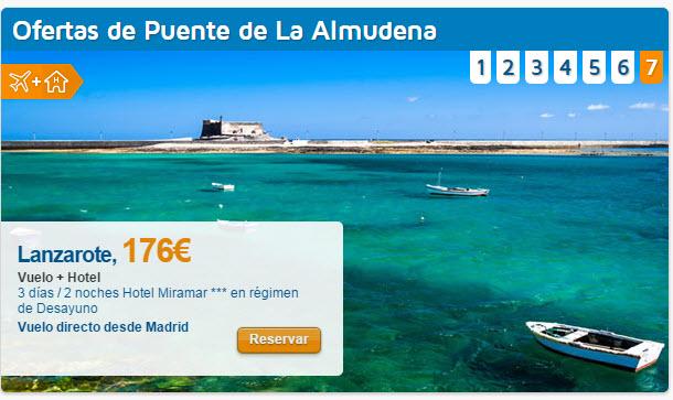 viajes baratos para el puente de la Almudena