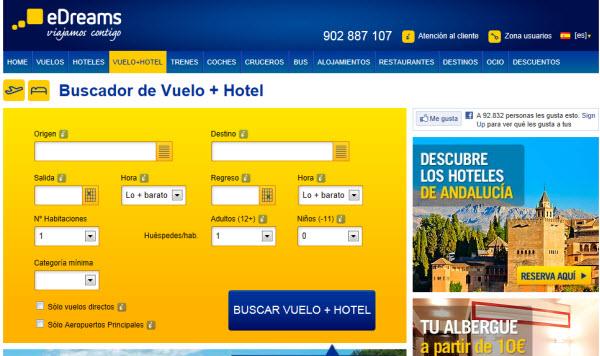 vuelos y hotel para el puente de la Almudena