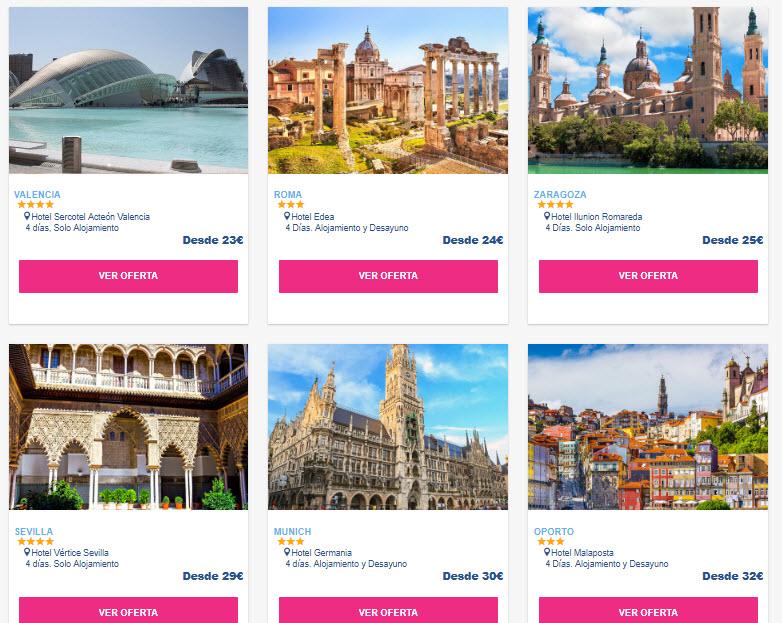 vuelos y hotel puente de la almudena