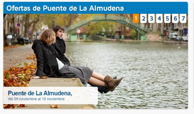 Viajes de última hora para el puente de la Almudena