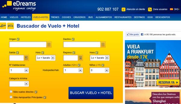 vuelo más hotel baratos Puente de Diciembre