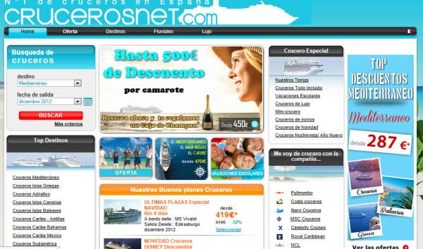 Reservar cruceros con 50 euros
