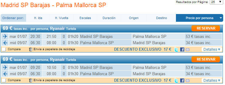 vuelos low cost Palma de Mallorca