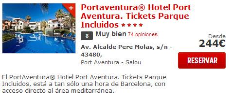 hotel con entrada de port aventura
