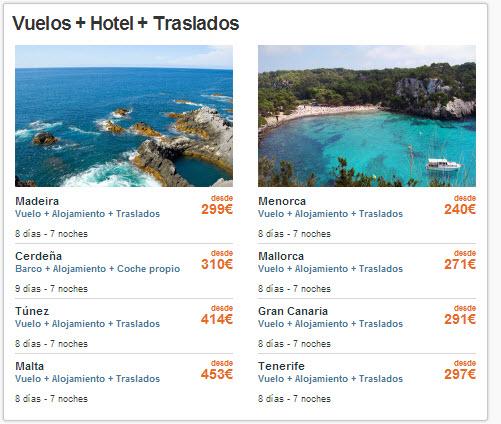 hoteles de playa mas vuelos