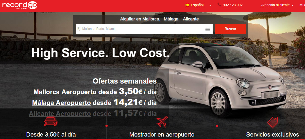 record rent a car opiniones
