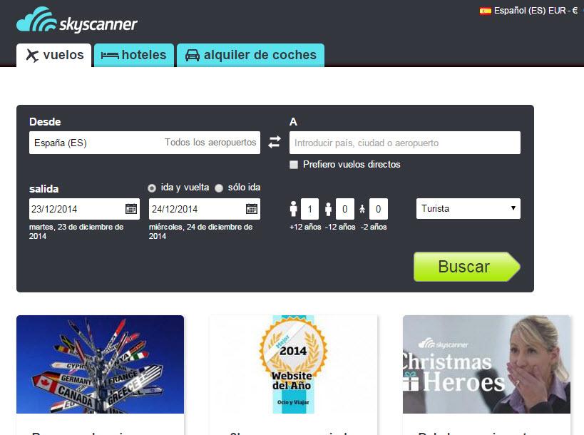 skyscanner España opiniones