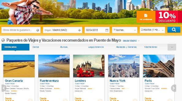 Ofertas Puente de Mayo 2015: viajes, vuelos y hoteles lowcost