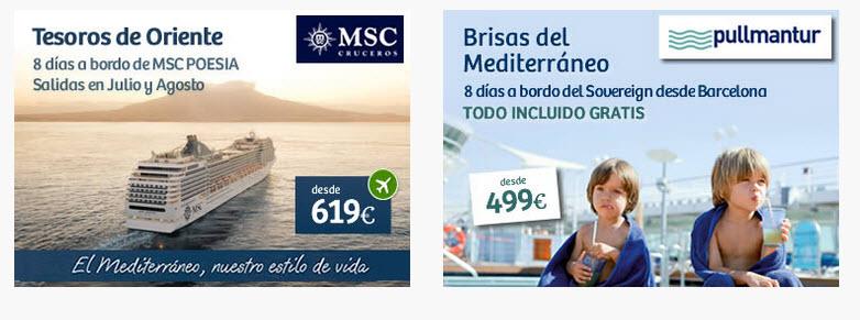 ofertas cruceros mediterraneo 2015