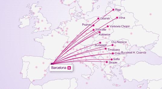vuelos wizzair desde Barcelona