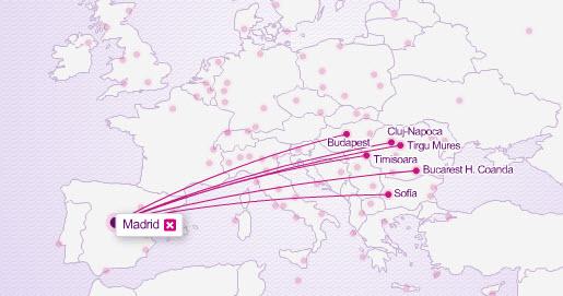 vuelos wizzair desde Madrid