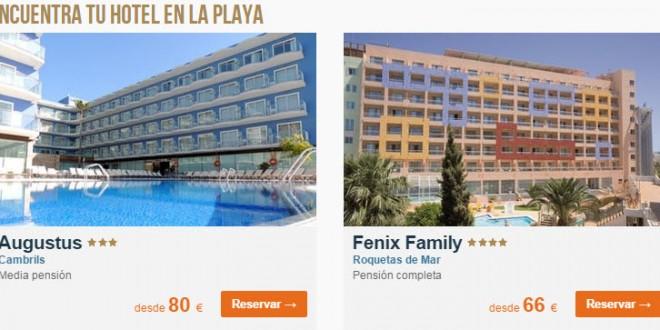 Hoteles de Playa Agosto 2015: ofertas en Destinia y Atrapalo