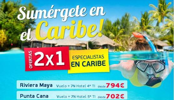 Ofertas viajes Septiembre 2015: 2×1 caribe, hoteles y circuitos