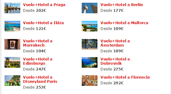 ofertas vuelo mas hotel septiembre