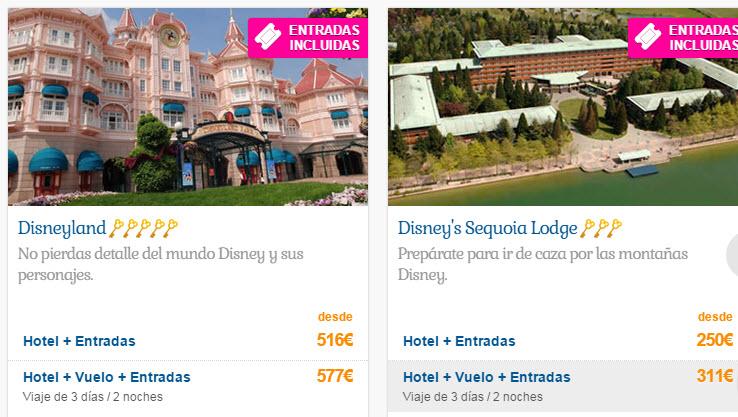 disneyland paris hoteles con entradas incluidas