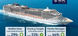 Cruceros baratos Septiembre 2015: precios en Msc y Costa