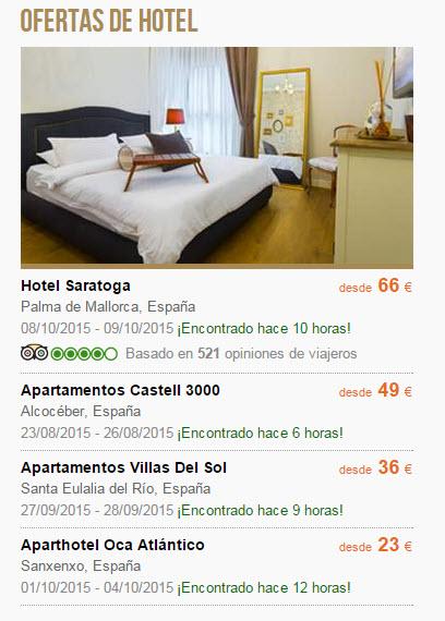 ofertas ultima hora hoteles de playa Septiembre