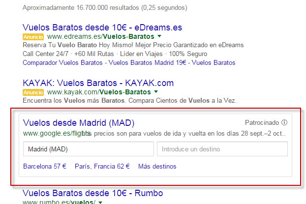 google flights opiniones