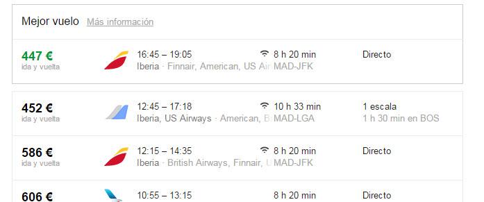 google vuelos