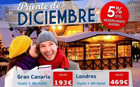 ofertas viajes puente de diciembre