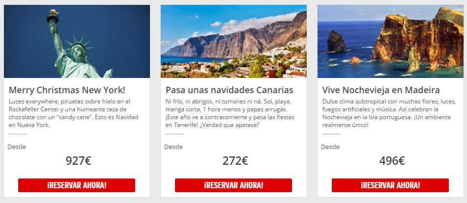 ofertas viajes Fin de Año