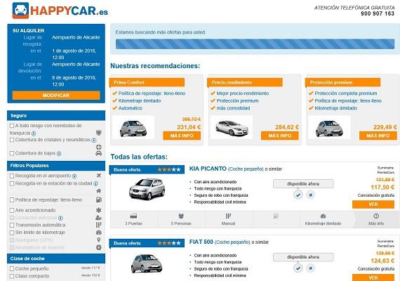 happy car vehículos en alquiler