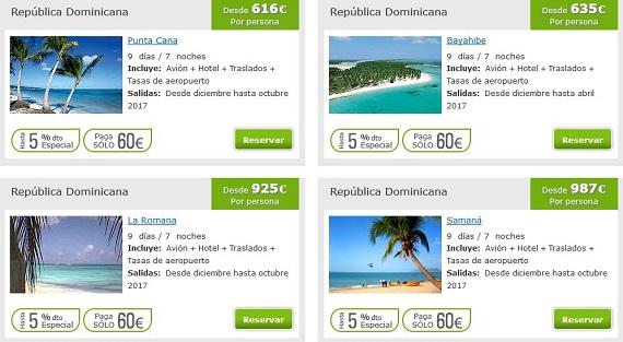 ofertas caribe republica dominicana
