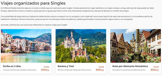 different roads viajes para singles